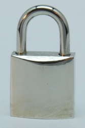 Padlock 21 mm, shiny nickelplated +2 keys