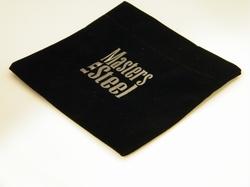 Velvet giftbag, black approx. 12 x 14 cm closed by velcro