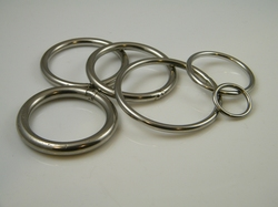 Ronde gelaste ring in RVS