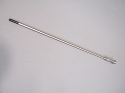 Stainless steel walking stick with  fiber cane insert, Black