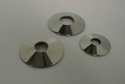 Big nipple disks, pair, 4 cm diam. shiny