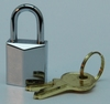 Padlock, heavy chrome plated 15 mm +2 keys