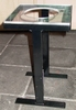 Krukje in H-vorm (zwart) met plexiglas zitting